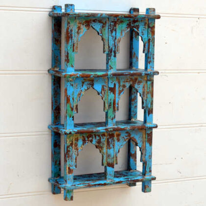 kh19 RS2020 001 india accessory mirror small arch green blue brown 4 kh19 RS2020 003 indian furniture 6 shelving wall blue mihrab 2