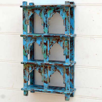 kh19 RS2020 001 india accessory mirror small arch green blue brown 4 kh19 RS2020 003 indian furniture 6 shelving wall blue mihrab 3