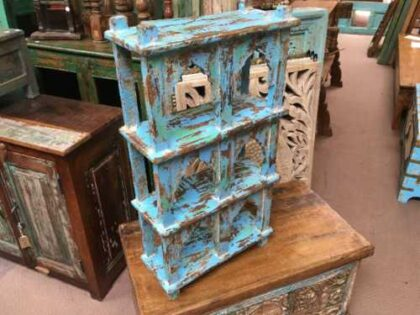 kh19 RS2020 003 indian furniture 6 shelving wall blue mihrab shop