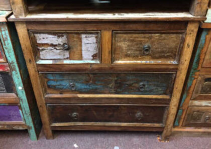 kh20 130 indian chest of drawers reclaimed bedroom front