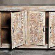 k69 1923 indian furniture sideboard large sunburst ajar