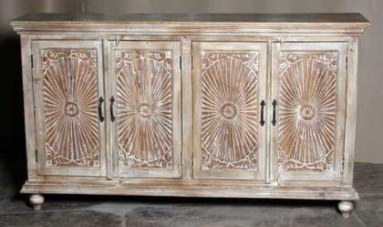 k69 1923 indian furniture sideboard large sunburst front