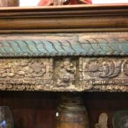 kh18 067 indian furniture bookcase carved vintage reclaimed link ganesh