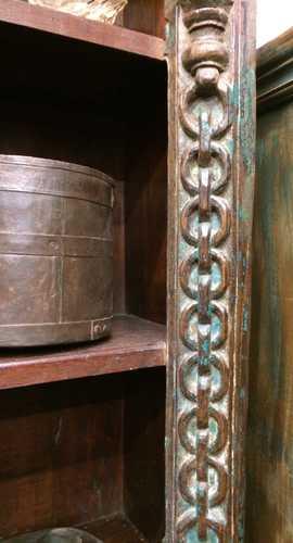 kh18 067 indian furniture bookcase carved vintage reclaimed link close