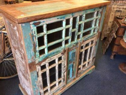 kh18 089 indian furniture cabinet multi glass right