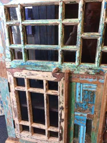 kh18 089 indian furniture cabinet multi glass close