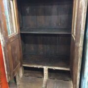 kh18 102 indian furniture cabinet reclaimed tall open