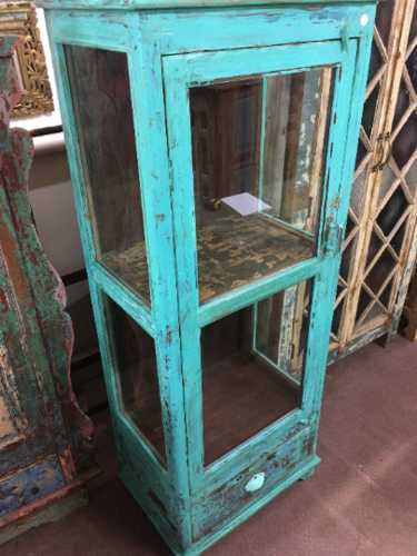 kh18 104 indian furniture cabinet glass door display right