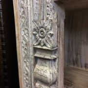 k69 1934 indian furniture bookcase large white carving