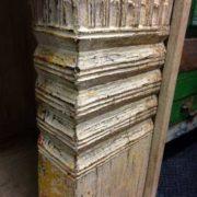 k69 1934 indian furniture bookcase large white right ribbing