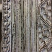 k69 1934 indian furniture bookcase large white right detailed up close