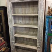 k69 1934 indian furniture bookcase large white inside