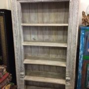 k69 1934 indian furniture bookcase large white shelved