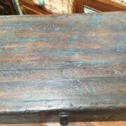 kh19 RS2020 035 indian furniture characterful blue old box top