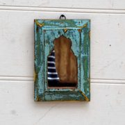 kh19 RS2020 074 indian accessory mirror small mihrab wooden frame 2