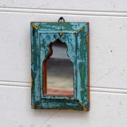 kh19 RS2020 074 indian accessory mirror small mihrab wooden frame 3