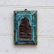 kh19 RS2020 074 indian accessory mirror small mihrab wooden frame 4