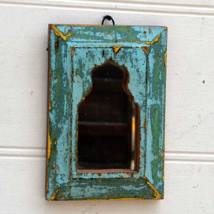kh19 RS2020 074 indian accessory small mihrab mirrors wooden frame