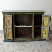 kh19 RS2020 099 indian furniture colourful unique sideboard diamond open