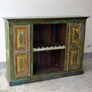 kh19 RS2020 099 indian furniture colourful unique sideboard diamond side