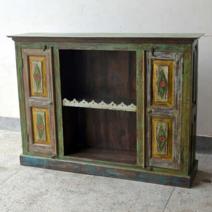 kh19 RS2020 099 indian furniture colourful unique sideboard diamond