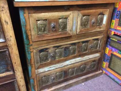 kh20 173 indian furniture buddha chest of drawers reclaimed left