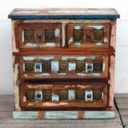 kh20 173 indian furniture buddha chest of drawers reclaimed front showroom