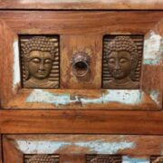 kh20 173 indian furniture buddha chest of drawers reclaimed close