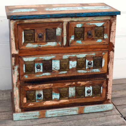 kh20 173 indian furniture buddha chest of drawers reclaimed showroom