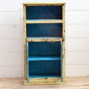 kh19 RS2020 015 indian furniture bookcase with cabinet cream open