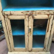 kh19 RS2020 015 indian furniture bookcase with cabinet cream close