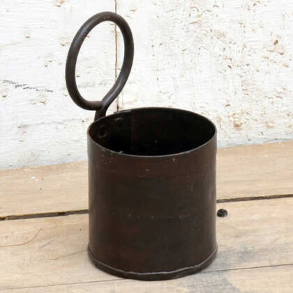 kh19 RS2020 022 indian small metal pot with ring handle side