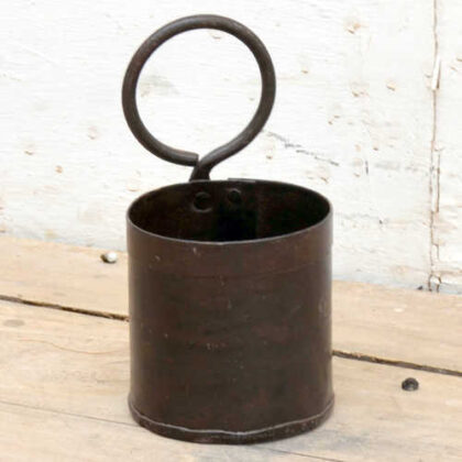 kh19 RS2020 022 indian small metal pot with ring handle