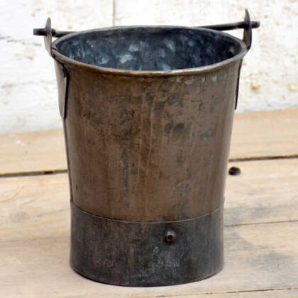 kh19 RS2020 023 indian small galvanised bucket mini front