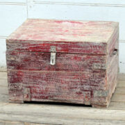 kh19 RS2020 029 indian furniture unique red storage box angle