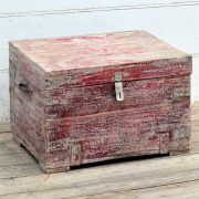 kh19 RS2020 029 indian furniture unique red storage box