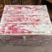 kh19 RS2020 029 indian furniture unique red storage box top