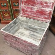 kh19 RS2020 029 indian furniture unique red storage box open