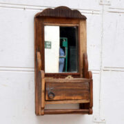 kh19 RS2020 060 indian hanging barbers mirror reclaimed