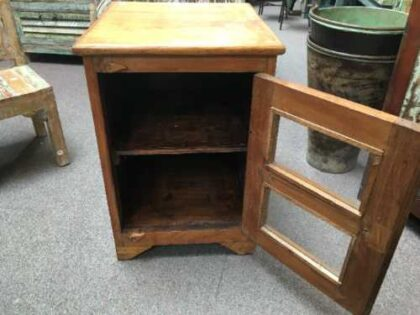 kh19 RS2020 066 indian furniture smart teak small cabinet open