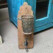 kh19 RS2020 072 indian hook holder wood metal unusual front