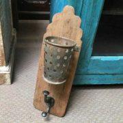 kh19 RS2020 072 indian hook holder wood metal unusual lean