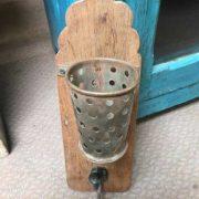 kh19 RS2020 072 indian hook holder wood metal unusual top
