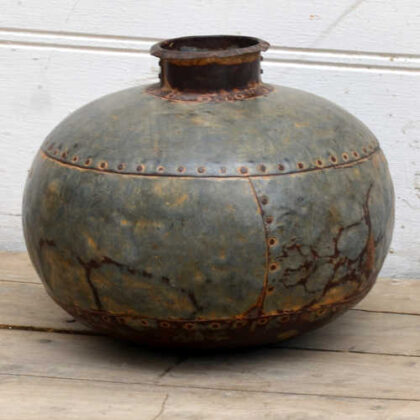 kh19 RS2020 081 indian vintage metal water pot front