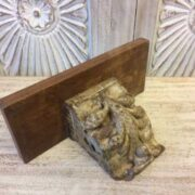 kh19 RS2020 082 indian furniture wall shelf carved corbel A