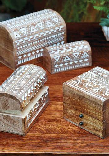 BX201 BX200 namaste indian accessory gift boxes aztec