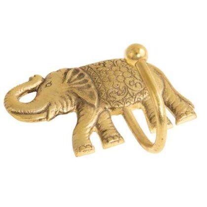 HK43 namaste indian accessory gift hook elephant brass
