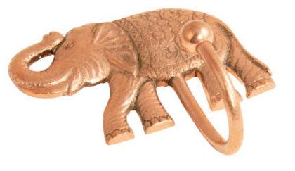 HK43 namaste indian accessory gift hook elephant copper