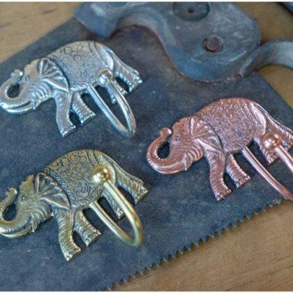 HK43 namaste indian accessory gift hook elephant range