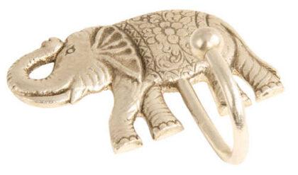 HK43 namaste indian accessory gift hook elephant silver